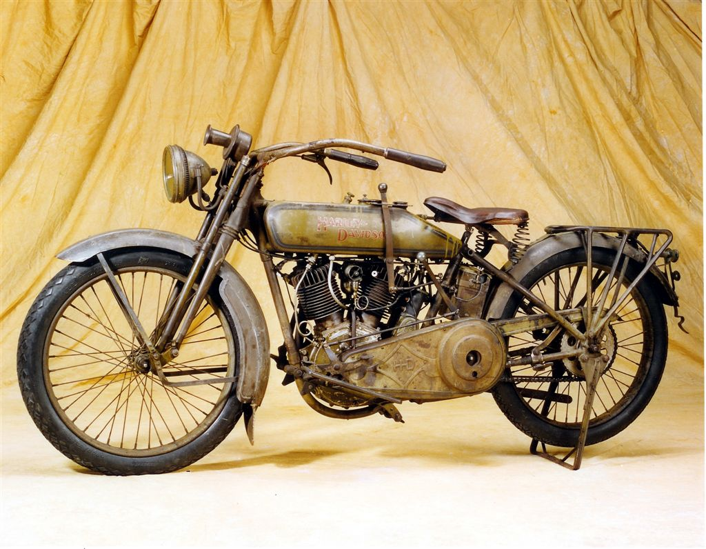 Classic 1917 Harley motorcycle once belonged to actor Steve McQueen