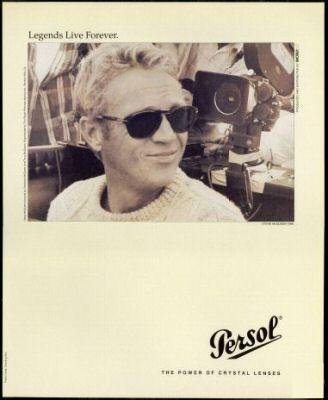 f8af146f78d McQueen featured in Persol Sunglasses Ad
