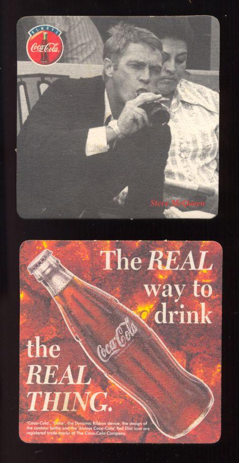 Coca Cola Coaster Featuring Steve Mcqueen
