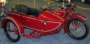1923 Indian Big Chief with matching princess side car