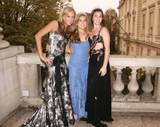 Molly, Ashley Bush and Rainsford Qualley (daughter of Andie MacDowell) at the 'Le Bal Crillon des Debutantes' 2005