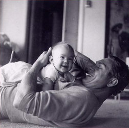 Steve and daughter Terry, 1959