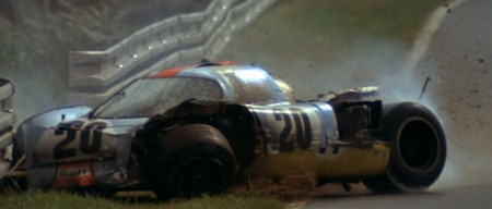 The Porsche Crash Scene