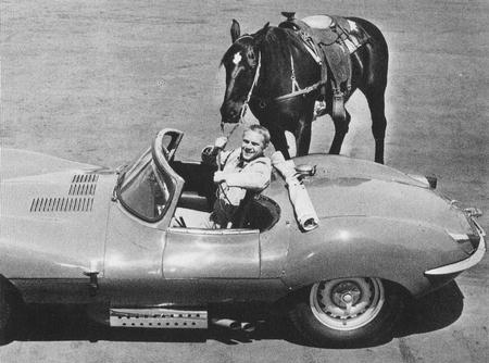 Steve, the Jag, and his horse 'Doc' 