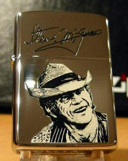 Dutch And Company >> Zippo Cigarette Lighters featuring Steve McQueen's image